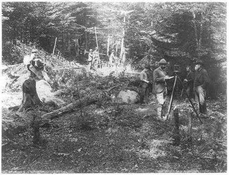 Adirondack-R.R.-survey-party,-near-Long-Lake,-1888