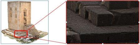 ابر نقاط سه بعدی تهیه شده از کعبه زرتشت,محوطه تاریخی نقش رستم