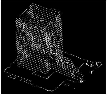 مقاطع عرضی در ترازهای مختلف ارتفاعی از بنای کعبه زرتشت,فتوگرامتری برد کوتاه