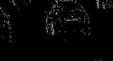 لبه های عمودی تصویر بعد از اعمال ماسک عمودی سوبل