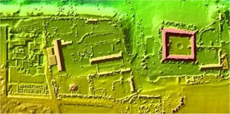 مدل سه بعدی ارتفاعی منطقه ای مربوط به رم باستان- اتریش, مروری بر کاربردهای LiDAR در مهندسی ژئوماتیک ,© Wasserstraßendirektion Wien, Austria, TopoSys GmbH